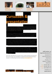 Brochure InRIO cursussen 2015