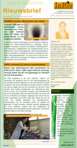 InRIO nieuwsbrief december 2008